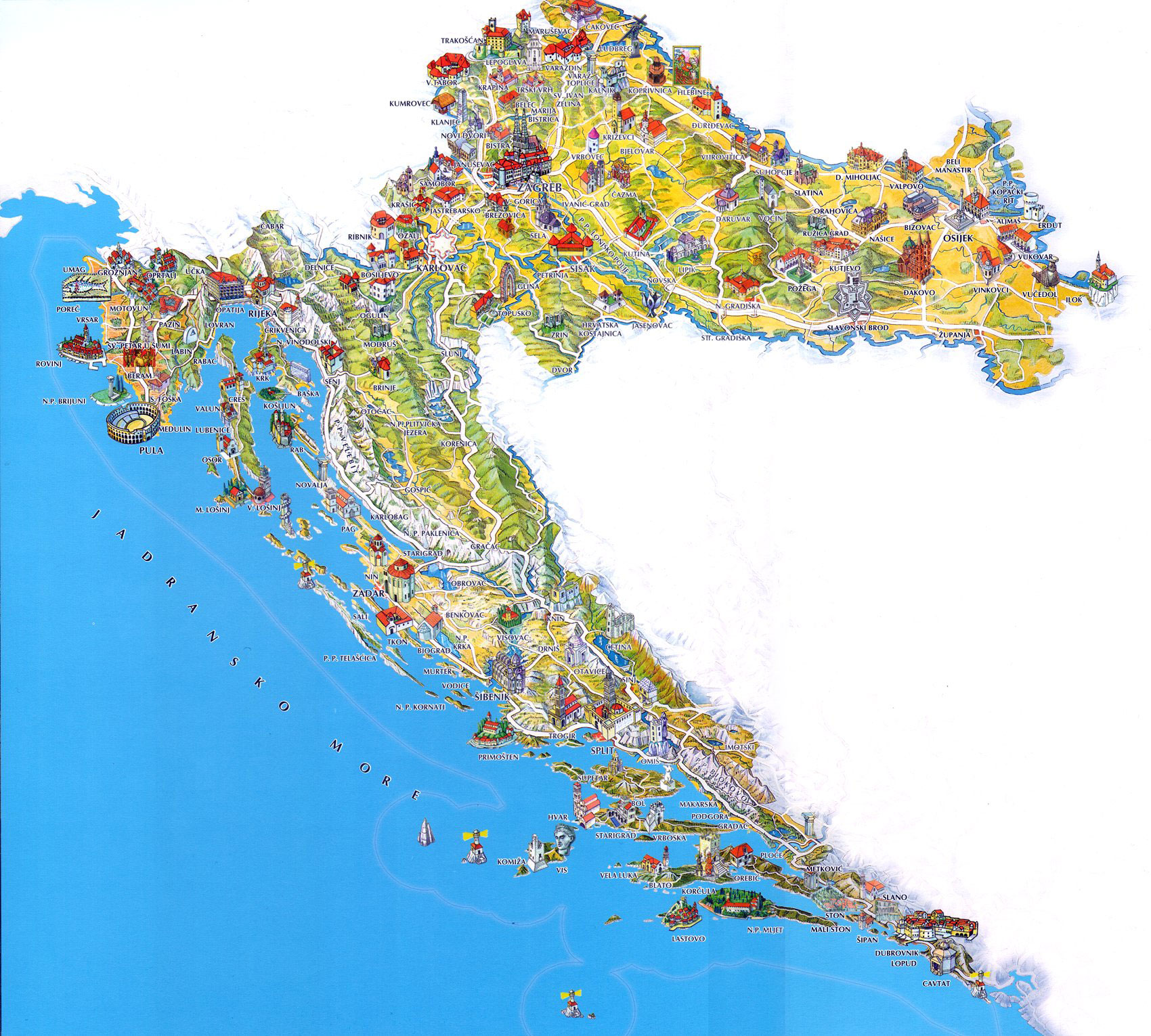 Croatia-Tourist-Map