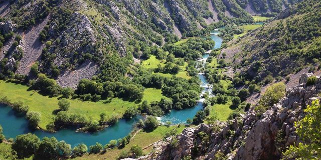 Krupa river from above | Raftrek Adventure Travel Croatia