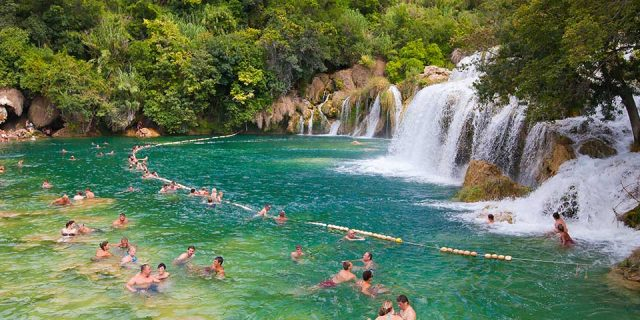 Swimming in Krka River-Raftrek Adventure Travel