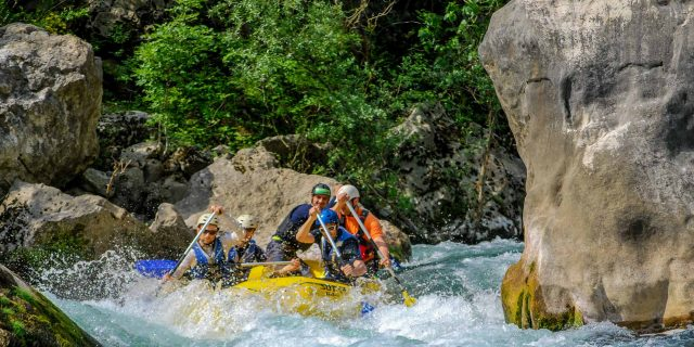 Rafting Cetina River in Croatia