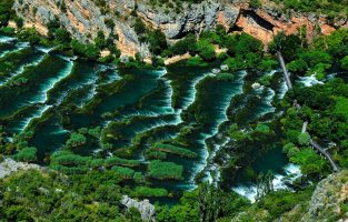 E-cycling Krka circuit-Roški waterfall-Raftrek adventure travel