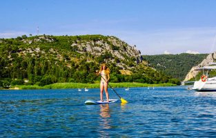 SUP Skradin bay SUP Skradin bay Croatia sunset | Raftrek Adventure Travel Croatia
