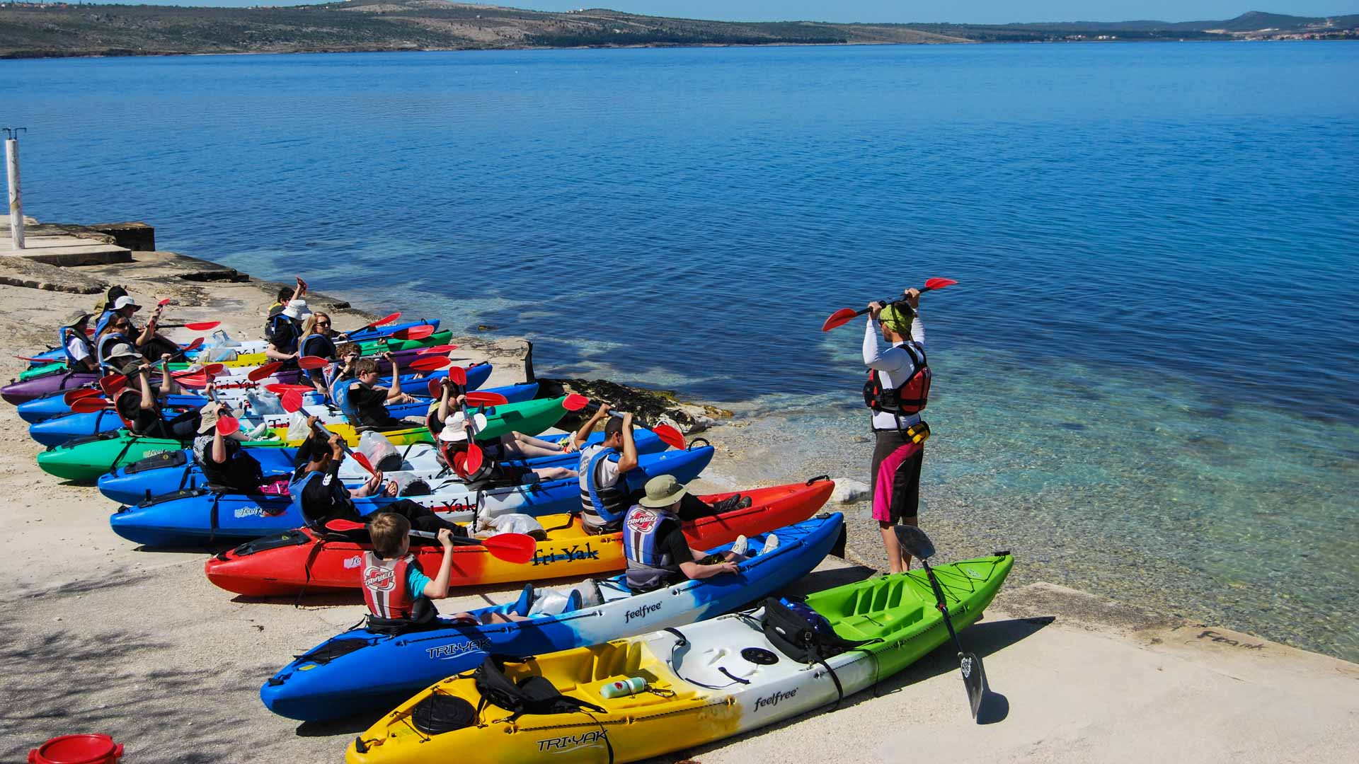 Adventure Guides Training in Croatia | Sea-kayaking-Novigrad-bay | Raftrek Adventure Travel Croatia