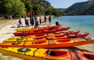 Sea kayaking Skradin Bay