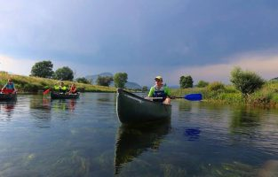 Four Countires Multisport | Canoeing Trebizat river | Raftrek travel