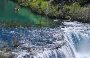 Zrmanja river waterfall Raftrek Adventure Travel