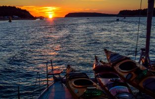 Sunset sailing trip in Croatia