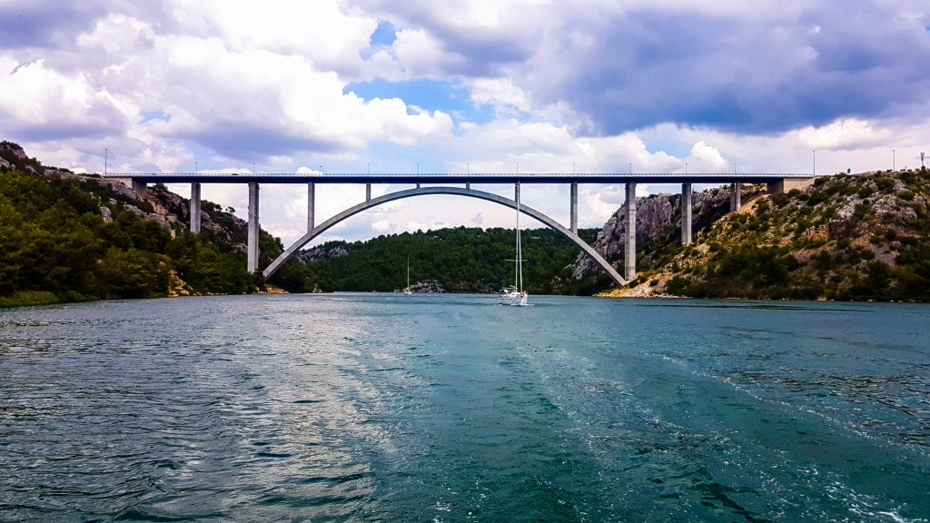 Beautiful Šibenik Bridge, Raftrek Travel