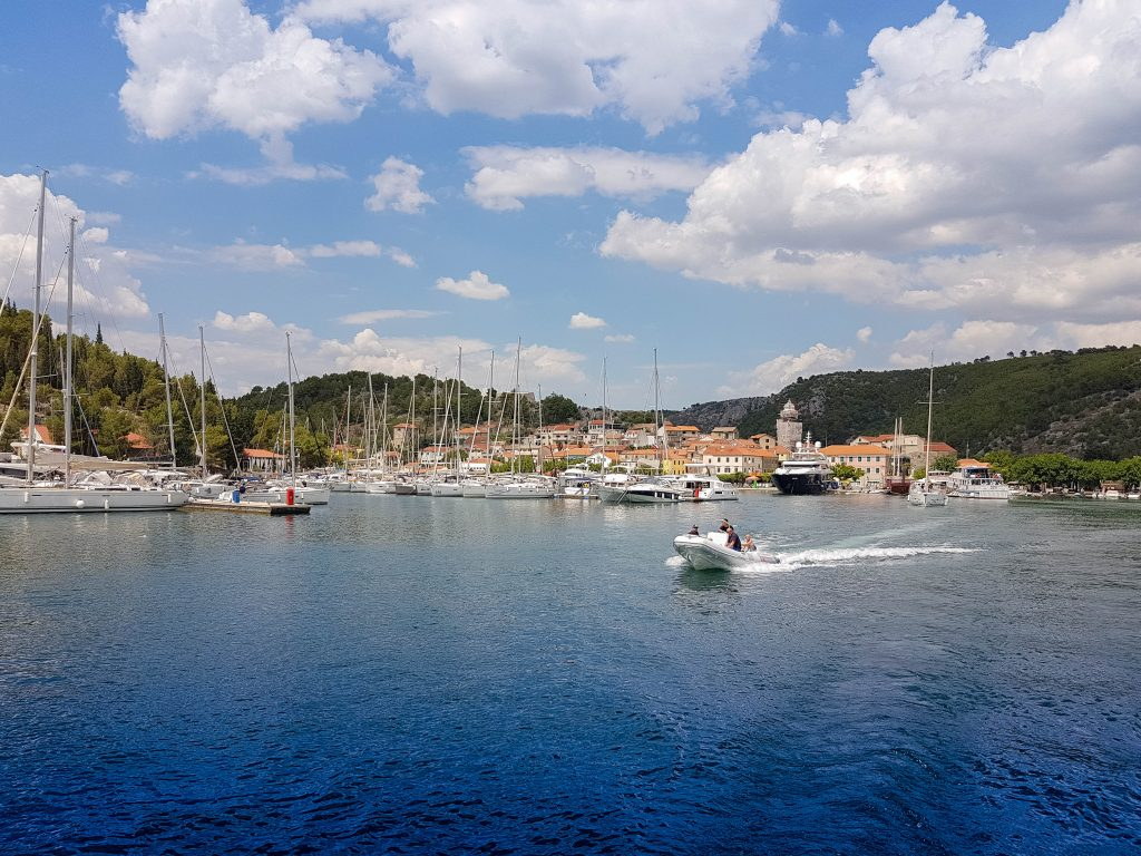View of Skradin town, Raftrek travel