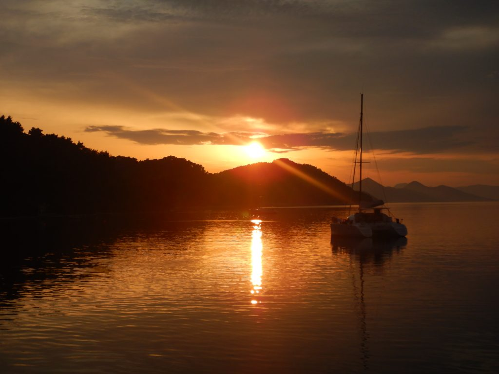 Croatia Sailing-Sunset view, while sailing to Šibenik, Raftrek travel