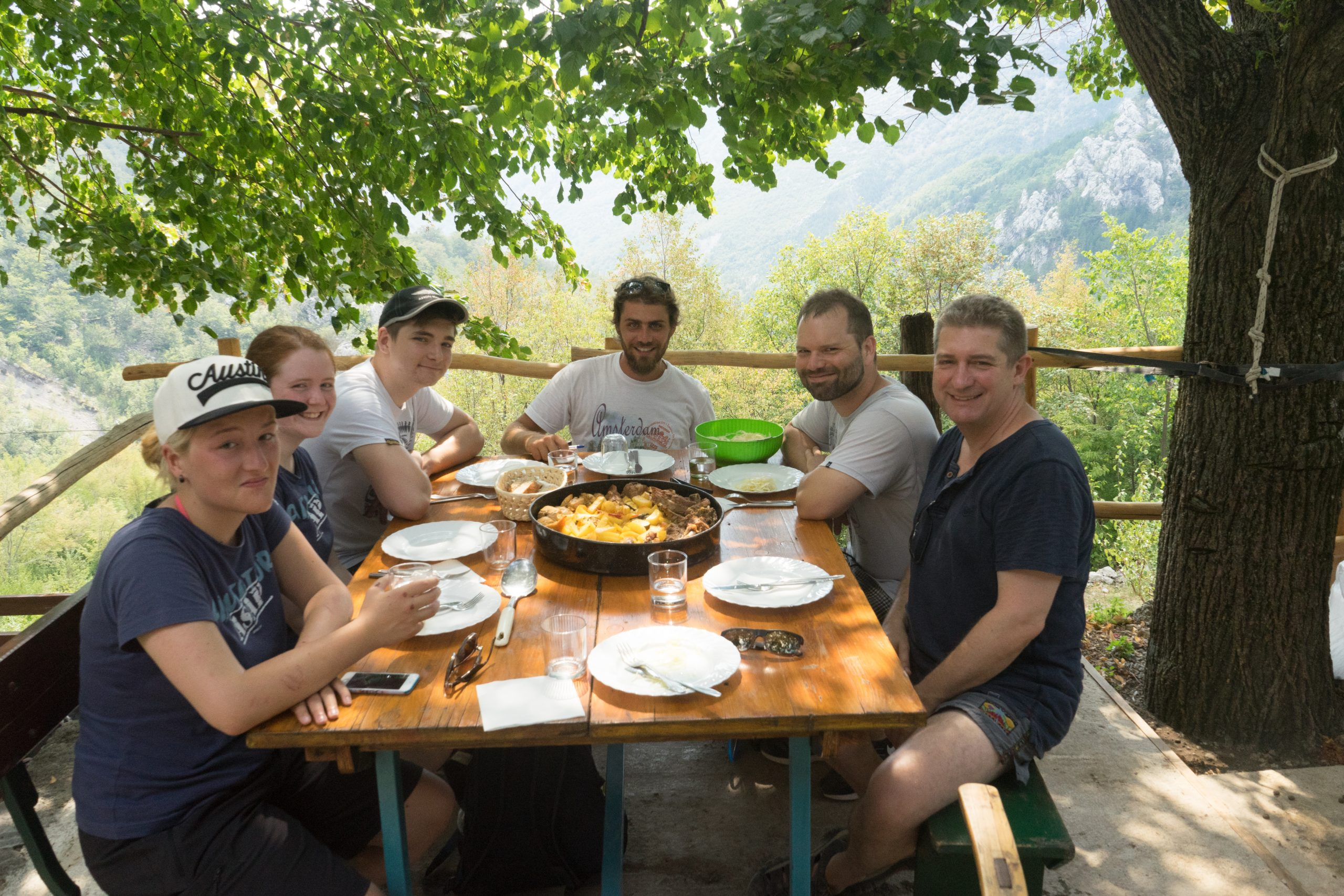 People of Croatia | Group lunch on top mountain | Raftrek travel Blog